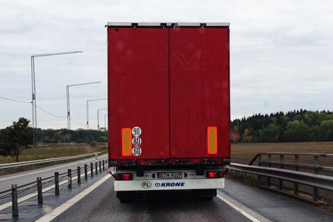 lätt lastbil hastighetsgräns